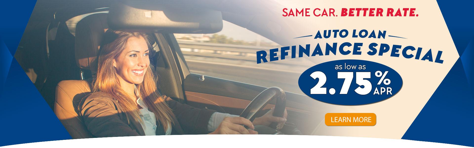 2.75% APR Auto Loan Refinance Special