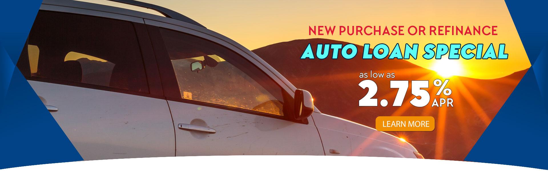 2.75% APR Auto Loan Special