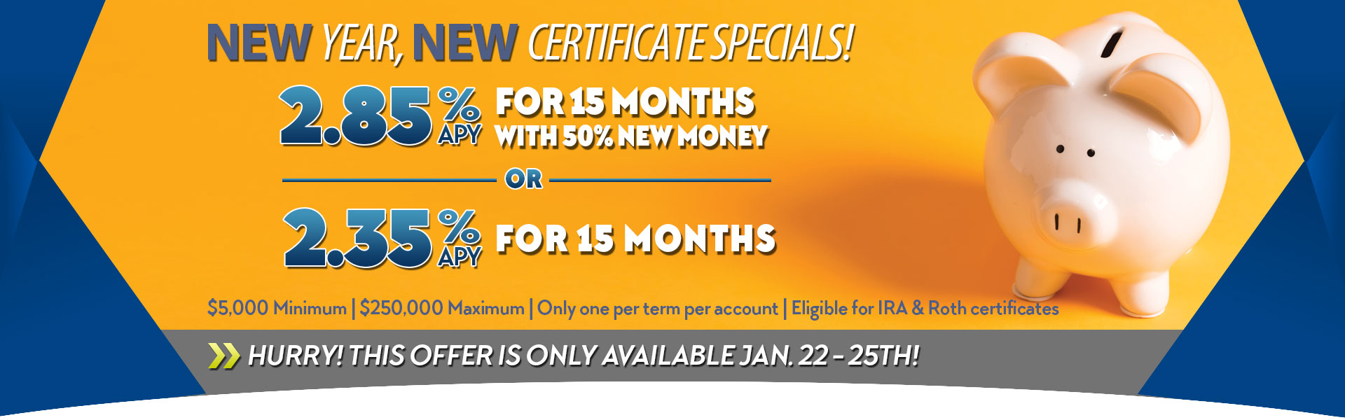 Share certificate specials