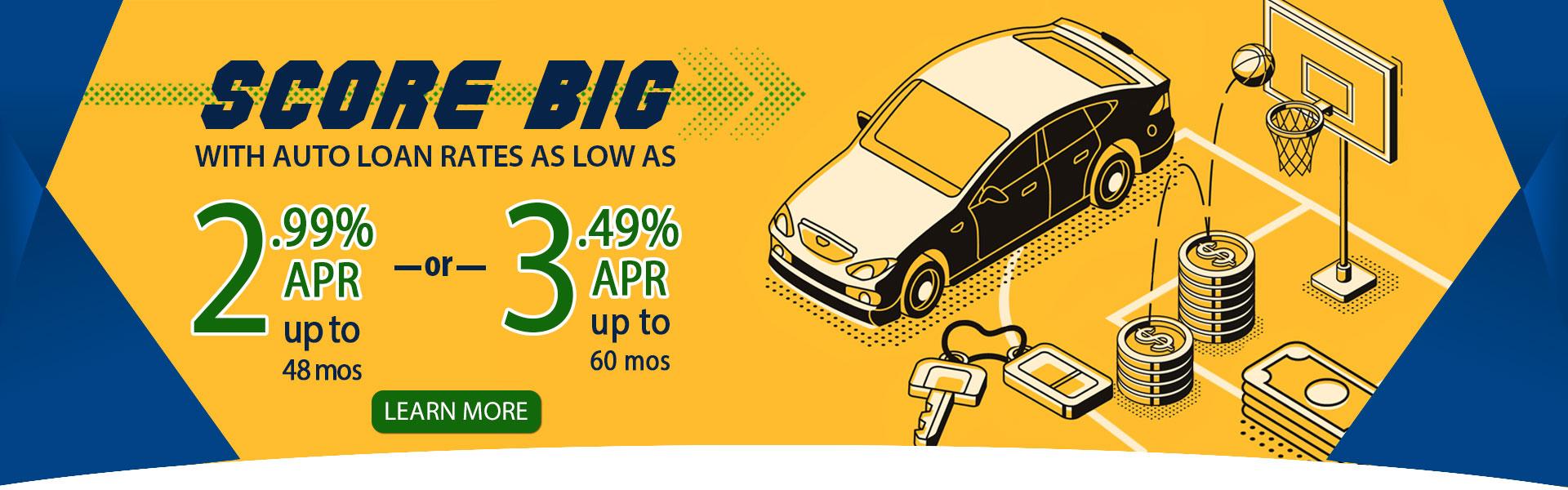 2.99% APR Auto Loans