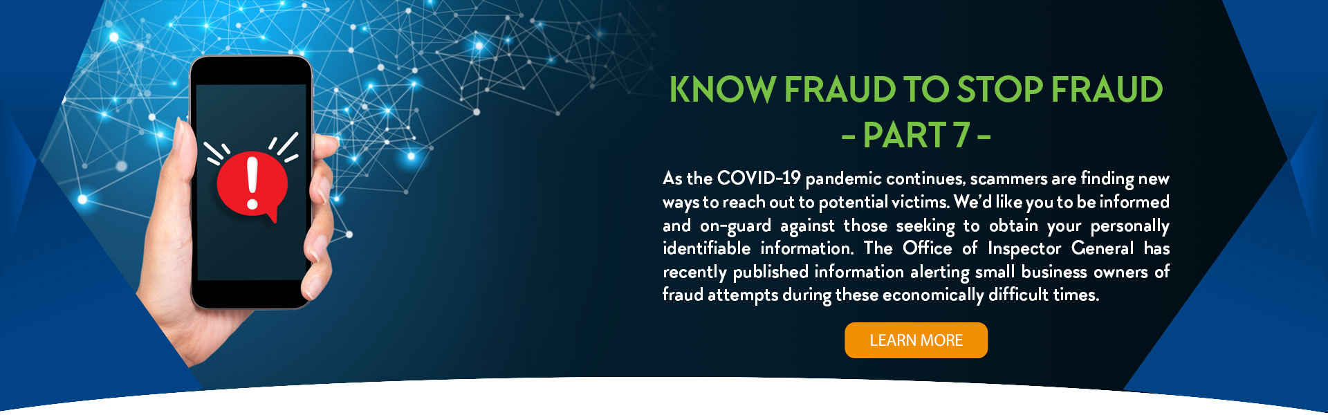 Blog - Know Fraud to Stop Fraud - Part 7