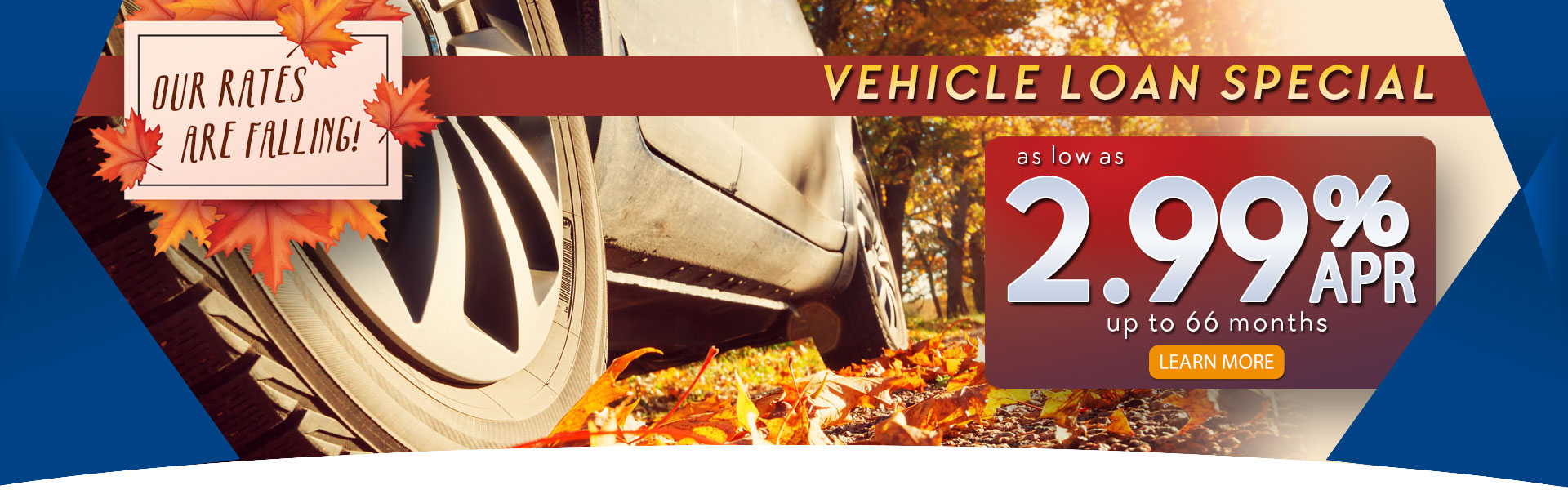 2.99% APR Fall Auto Loan Special