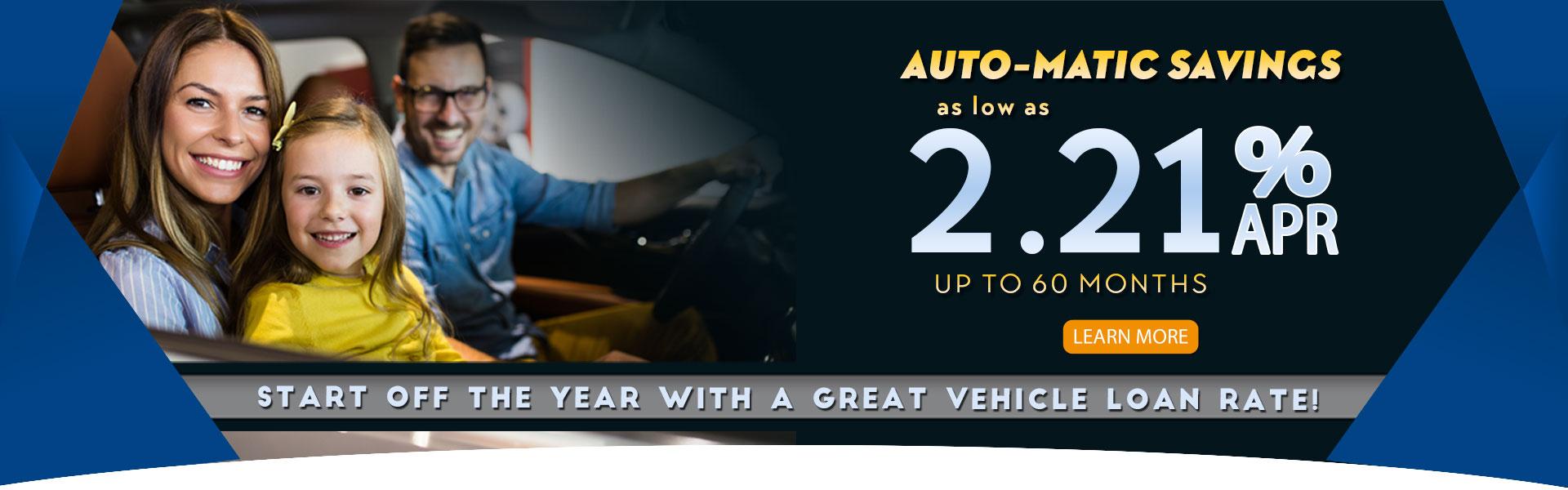 2.21% APR Auto Loan Special