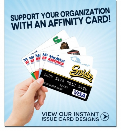 support your organization with an affinity card. view designs.